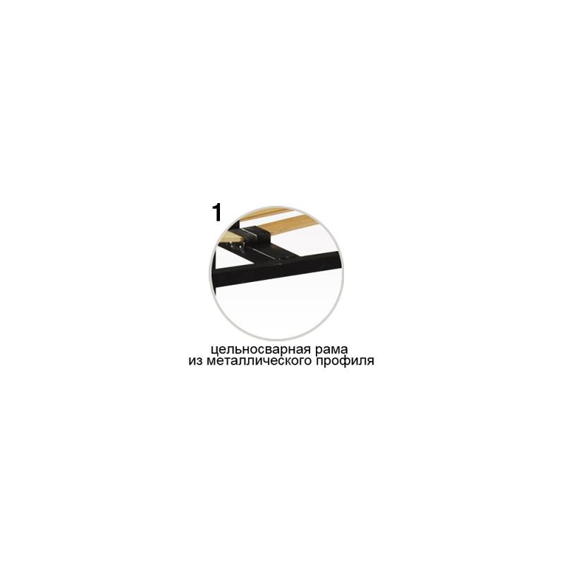 Каркас на ламелях з ніжками Стандарт Плюс V8 (посилений + 2 додаткові ніжки)